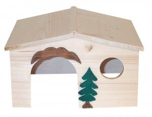 Gnagarhus i naturträ 27x21x18 cm