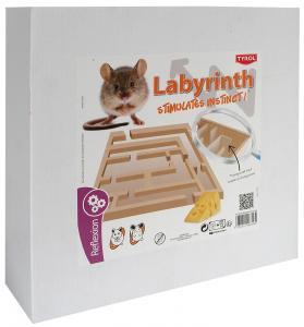 Hamsterlabyrint i trä Tyrol 25x25x7,5 cm