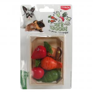 Gnagargrönsaker i trälåda Tyrol 10,5x7,3,5 cm