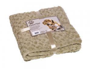 Pläd Fleece - SuperSoft -  60x85cm - Beige