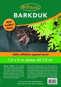 Barkduk 7,5 kvm 1,5*5 m 1 st
