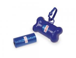 Bajspåsehållare Plast - Bone - 8cm - Blå