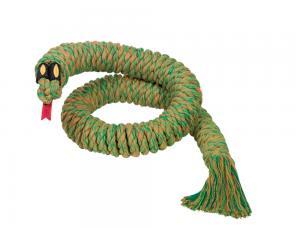 Hundleksak RopeToy Bomull - Snake - 115cm - Grön