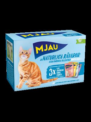 Mjau, multipack Kött- & Fisksmaker i Sås 12*85 gr 1 st