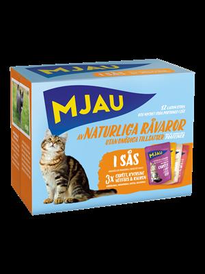 Mjau, multipack köttsmaker i gelé, 12*85 gr 1 st