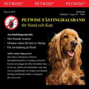 Petwise fästinghalsband Med/Large 40-70cm