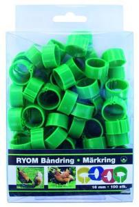 Märkring Grön 16 mm, 100 st 100 st
