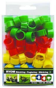Märkringar mixade färger, 12 mm - 100 st 100 st