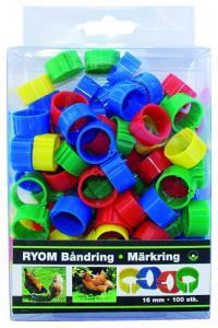 Märkringar mixade färger, 16 mm - 100 st 100 st