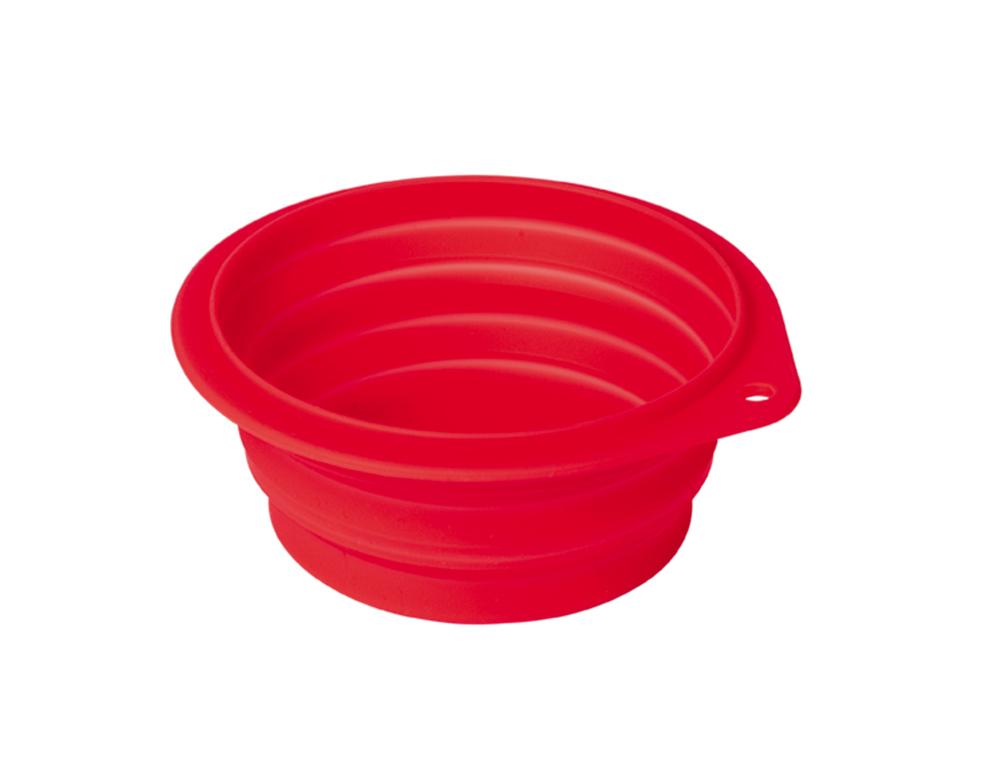 Reseskål Silikon - BonAppétit Vikbar - 500ml 13cm - Röd