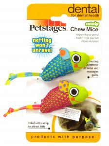 Kattleksak Petstages Catnip Chew Mice 9,5x3,5cm