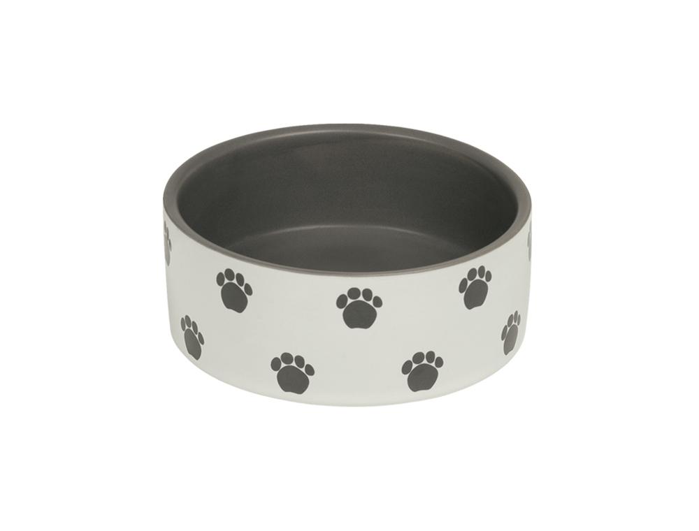 Skål Keramik - Patu - 12,0x4,5cm - Kräm/Grå