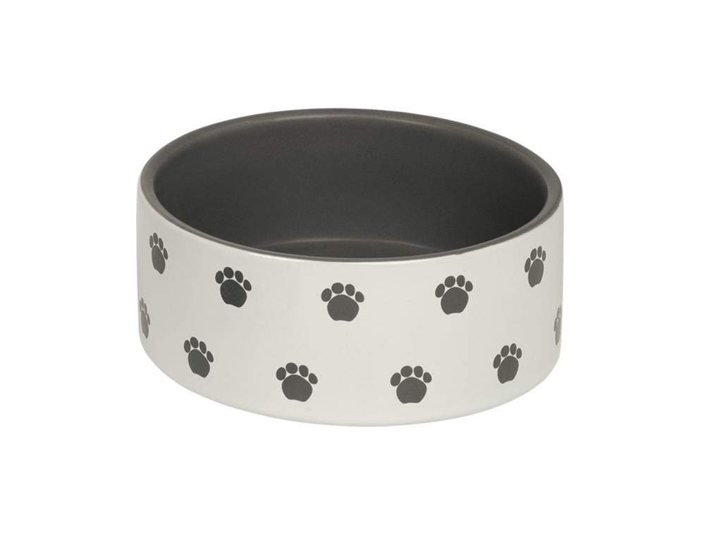 Skål Keramik - Patu - 15,0x6,0cm - Kräm/Grå
