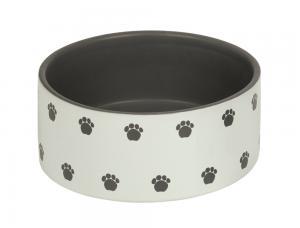 Skål Keramik - Patu - 18,0x7,0cm - Kräm/Grå