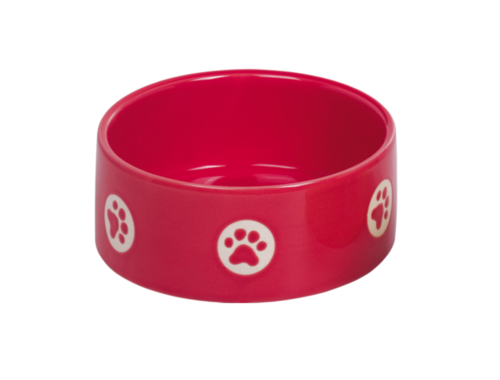 Skål Keramik - Tassu - 15,0x6,0cm - Röd