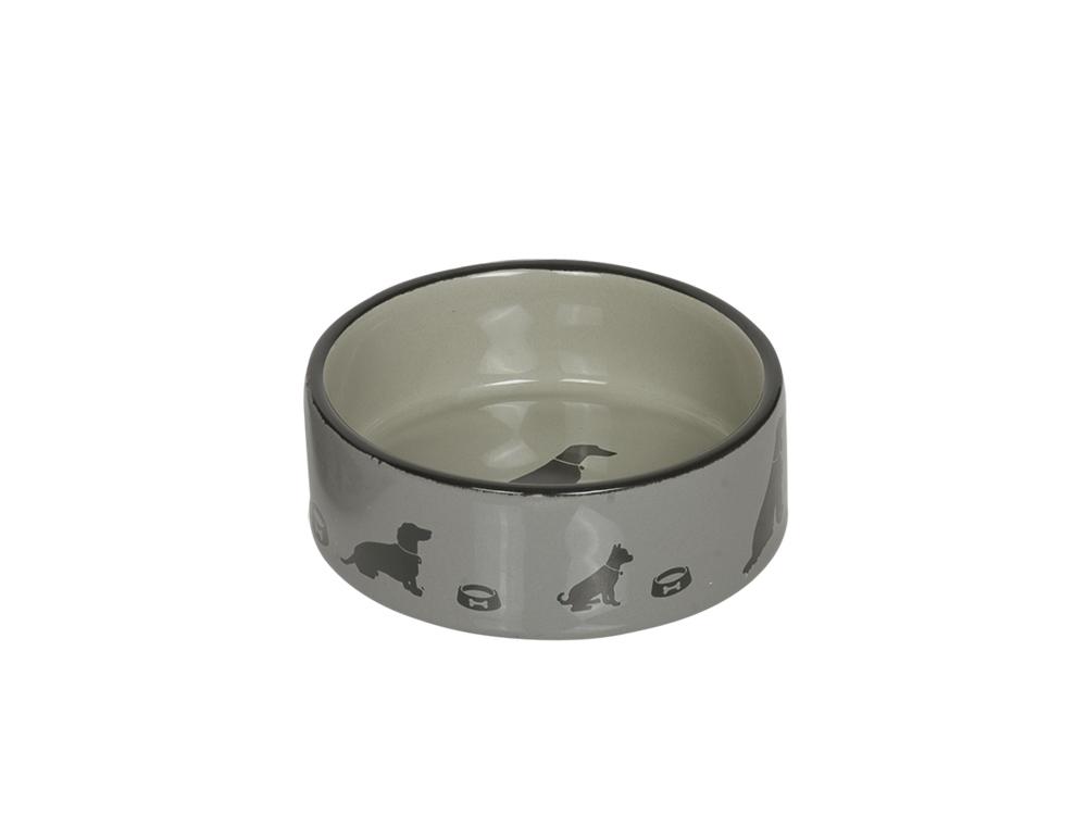 Skål Keramik - Marli - 12,0x4,5cm - Grå
