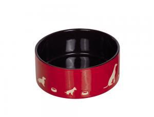 Skål Keramik - Shape - 15,0x6,0cm - Röd/Svart