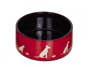 Skål Keramik - Shape - 18,0x7,0cm - Röd/Svart