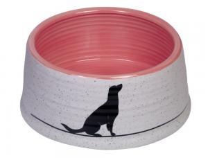 Skål Keramik - Luna - Ø15x6,5cm - Grå/Laxrosa