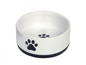 Skål Keramik - Paw - Ø14x6,55cm - Vit/Svart