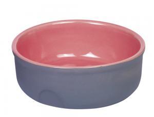 Skål Keramik - Feed - Ø13x5cm - Grå/Laxrosa