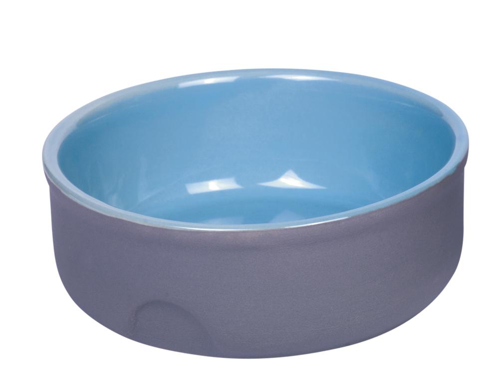 Skål Keramik - Feed - Ø13x5cm - Grå/Ljusblå