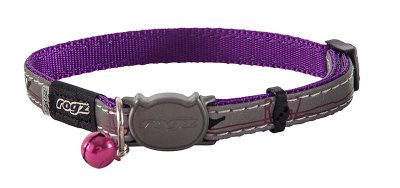 ROGZ NIGHTCAT HALSBAND S LILA 11MM 20-31