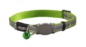 ROGZ NIGHTCAT HALSBAND S LIME 11MM 20-31
