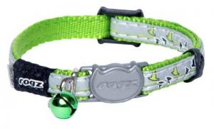 ROGZ NIGHTCAT HALSBAND XS LIME 8MM 16.5-