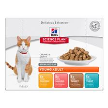 SP Feline YoungAd Ster.Cat Delicious Selection 12x85g