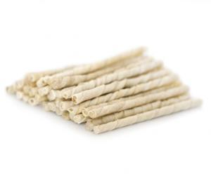 Twisted stick white 8 mm, 100 pcs
