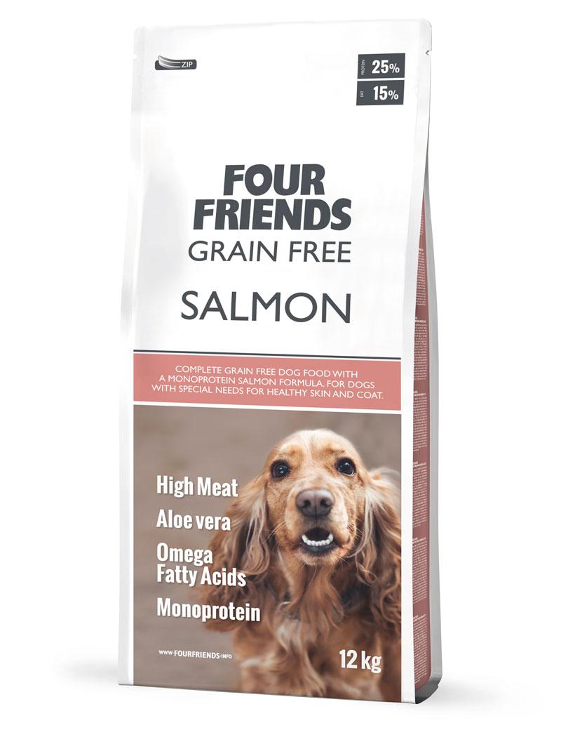 FourFriends Grain Free Salmon (Derma Coat)12kg