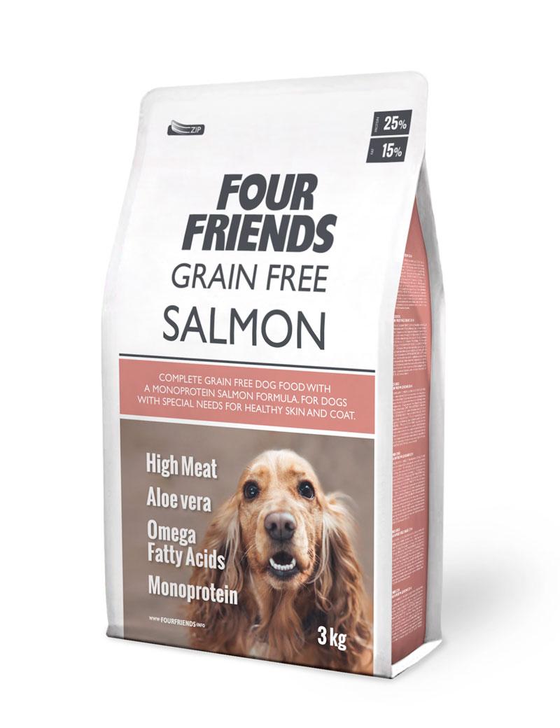 FourFriends Grain Free Salmon (Derma Coat) 3kg