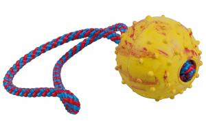 Hundleksak Boll gummi med handtag Gappay l=28cm d=6cm
