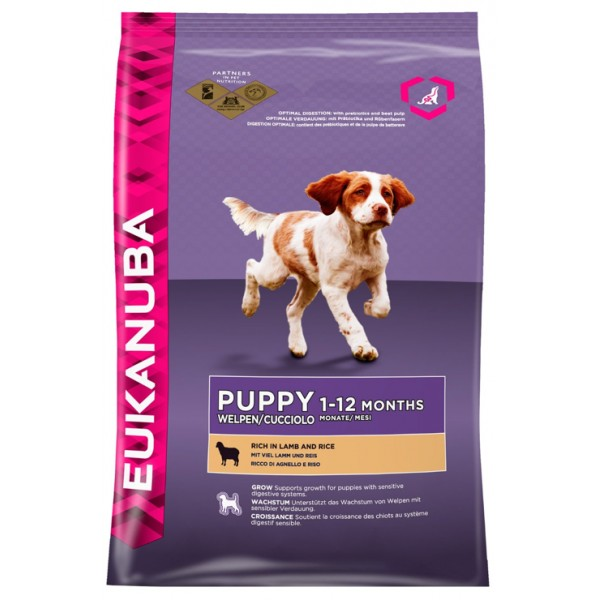 Euk Dog Pup & Jr Lamb & Rice 2,5 kg