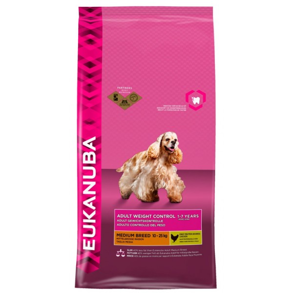 Euk Dog Ad Medium Weight Control 15 kg