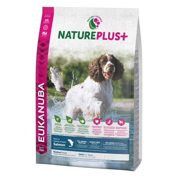 Euk Dog Nat + Ad Medium Salmon 14 kg