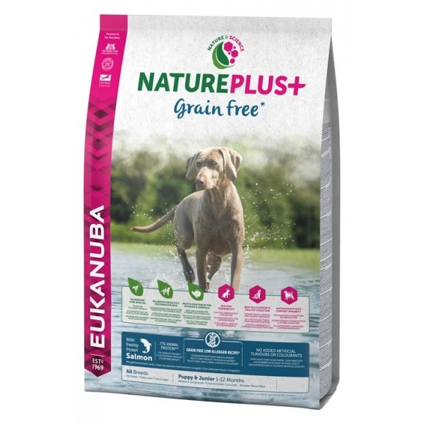 Euk Dog Nat + Grain Free Pup Salmon 14 kg