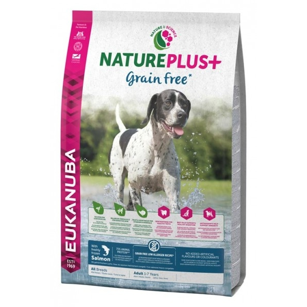 Euk Dog Nat + Grain Free Ad Salmon 2,3 kg
