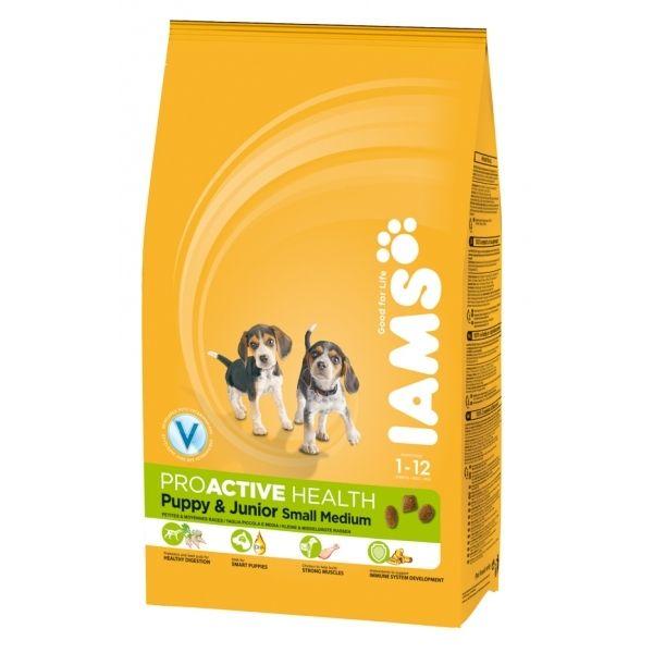Iams Dog Pup & Jr S&M 12 kg