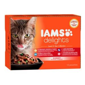 Iams Cat Naturally Land & Sea 85 g (12/frp)