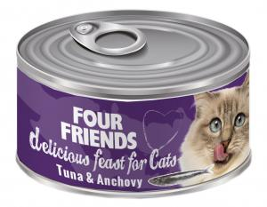FourFriends Burkmat Tuna & Anchovy 85 g