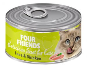 FourFriends Burkmat Tuna & Chicken 85 g