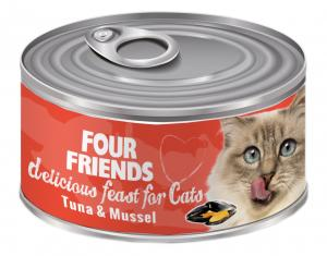 FourFriends Burkmat Tuna & Mussel 85 g