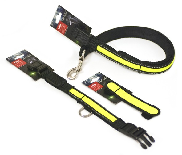 Led Pet Collar 2,5x31 cm small Black/Green