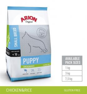 Arion PUPPY SMALL Chicken & Rice  7,5 kg
