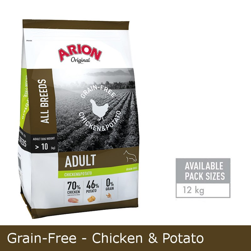 Arion GRAIN-FREE CHICKEN & POTATO 12KG