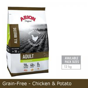 Arion GRAIN-FREE CHICKEN & POTATO 12KG