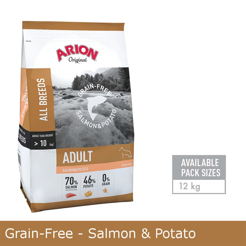 Arion GRAIN-FREE SALMON & POTATO 12KG