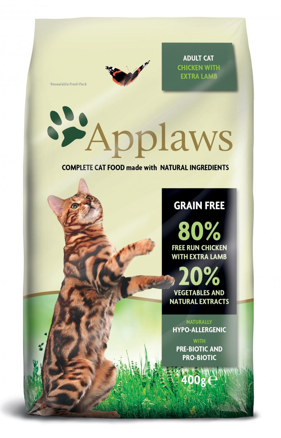 Applaws katt Adult Chicken&Lamb 400 g